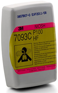 3M P100 with hydrogen fluoride, nuisance level organic vapor and acid gas relief* Filter