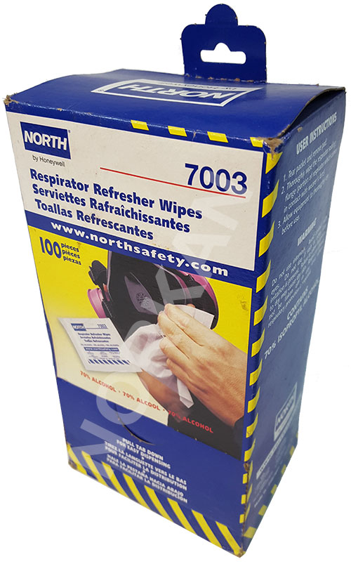 North Respirator Refresher Wipes 7003